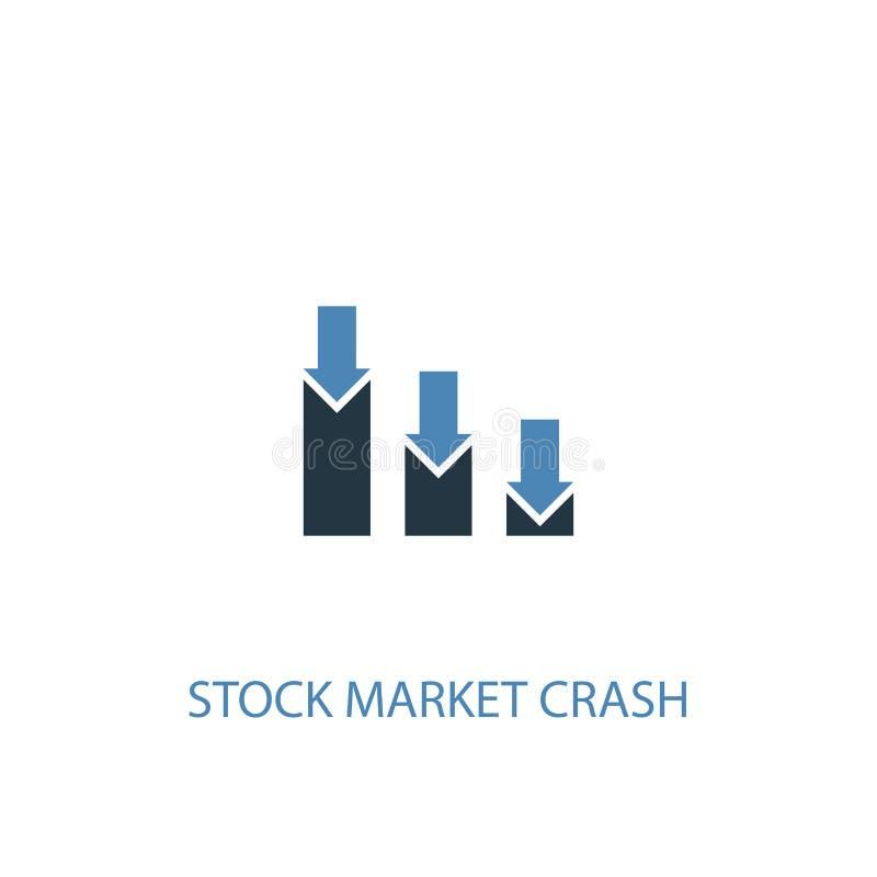 Stock market crash concept 2 colored. Icon. Simple blue element illustration. stock market crash stock illustration