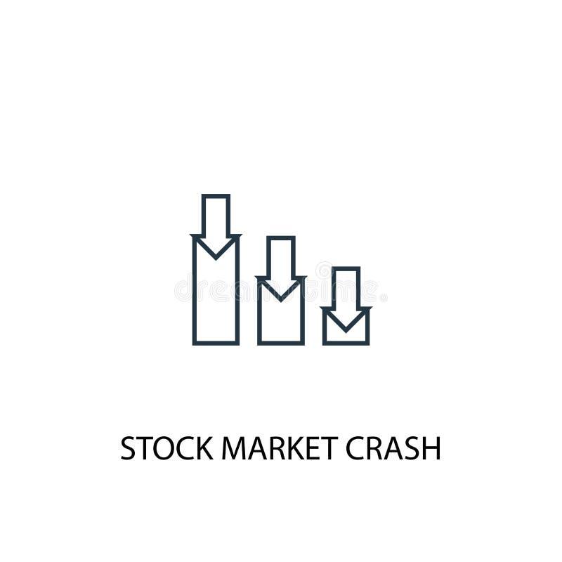Stock market crash concept line icon. Simple element illustration. stock market crash concept stock illustration