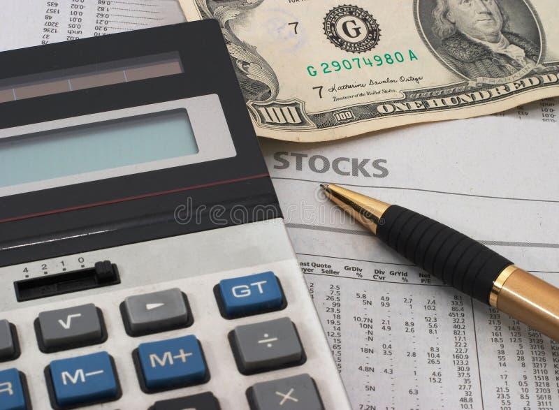 Stock Market Data Analysis, Cash Royalty Free Stock Photography