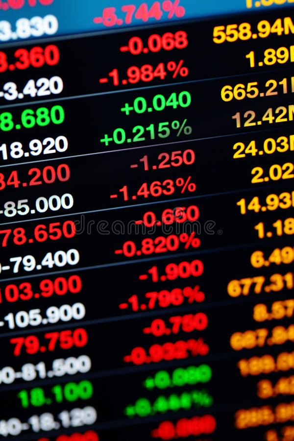 Stock market on display royalty free stock photography