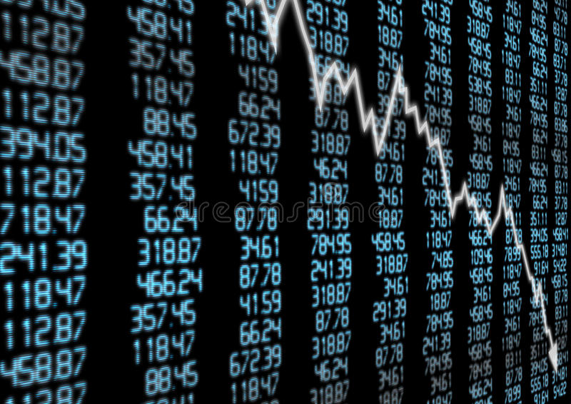 Stock Market Down stock illustration