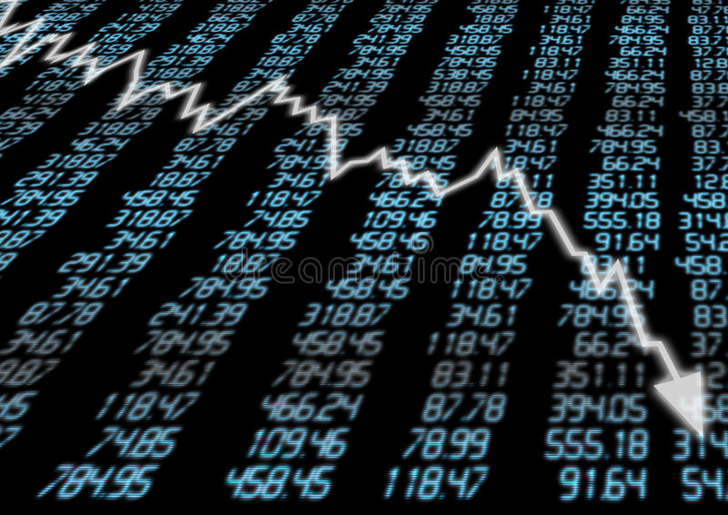 Stock Market Down stock illustration