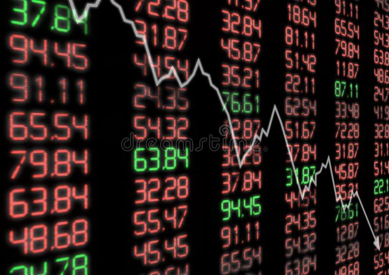 Stock Market Down vector illustration