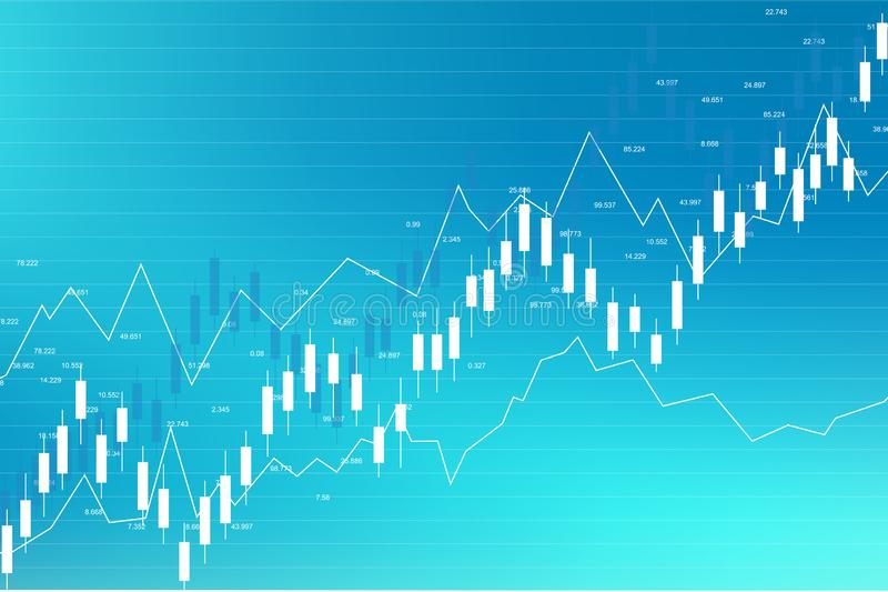 Stock market and exchange. Business Candle stick graph chart of stock market investment trading. Stock market data stock illustration