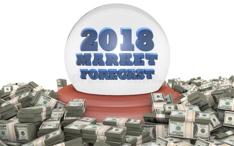 2018 Stock Market Forecast and Predictions vector illustration