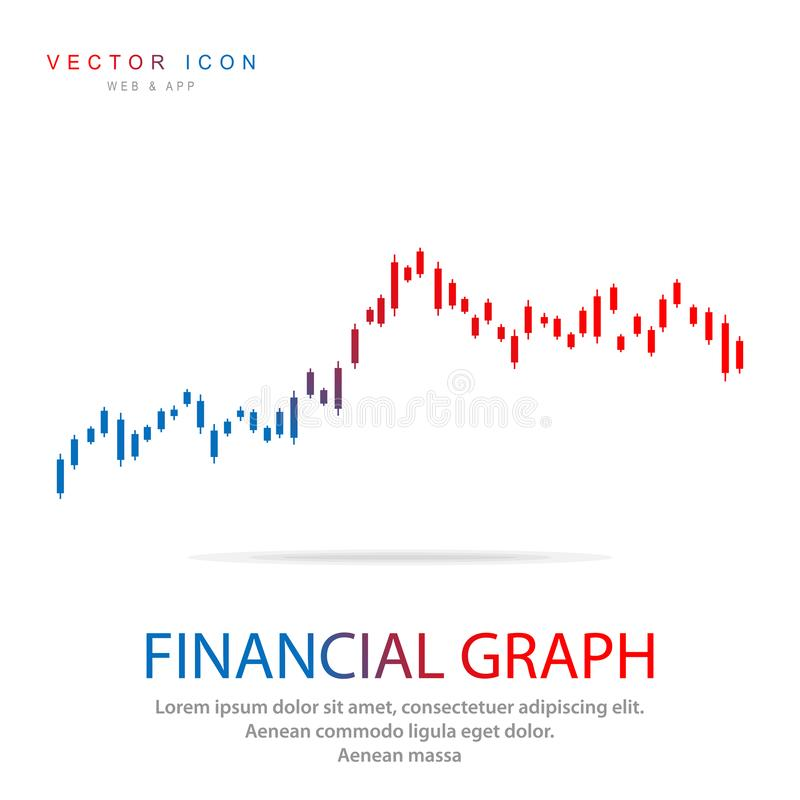 Candlestick Graph icon, Stock market or forex trading business graph chart for financial investment concept vector illustration