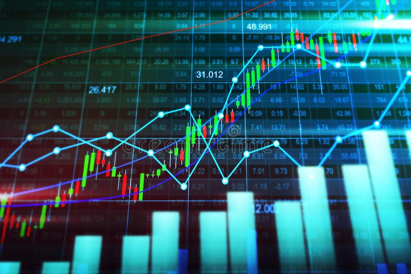 Stock market or forex trading graph in graphic concept stock image