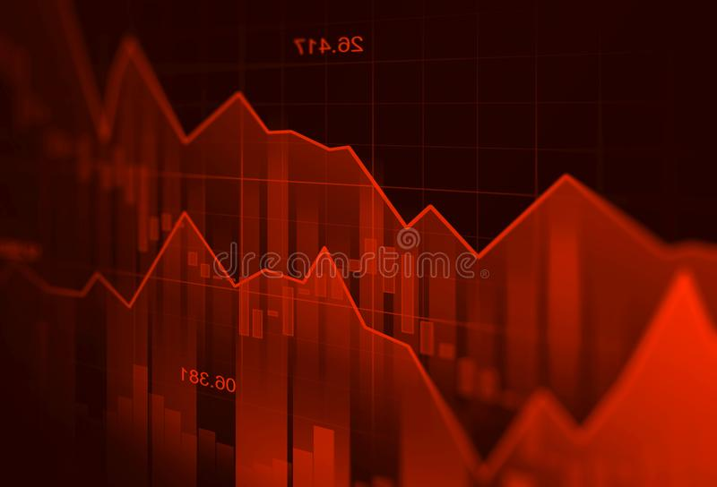 Stock market or forex trading graph in graphic concept suitable stock illustration