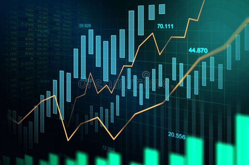 stock market or forex trading graph in graphic concept stock