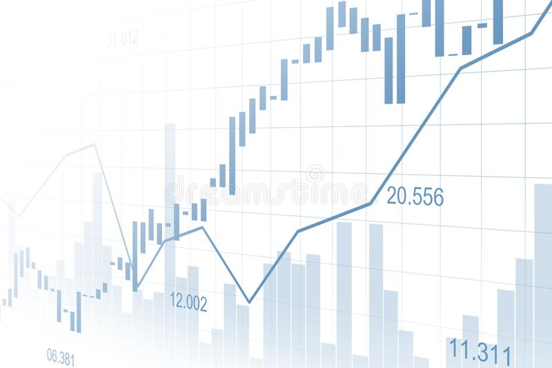 Stock market or forex trading graph in graphic concept stock images