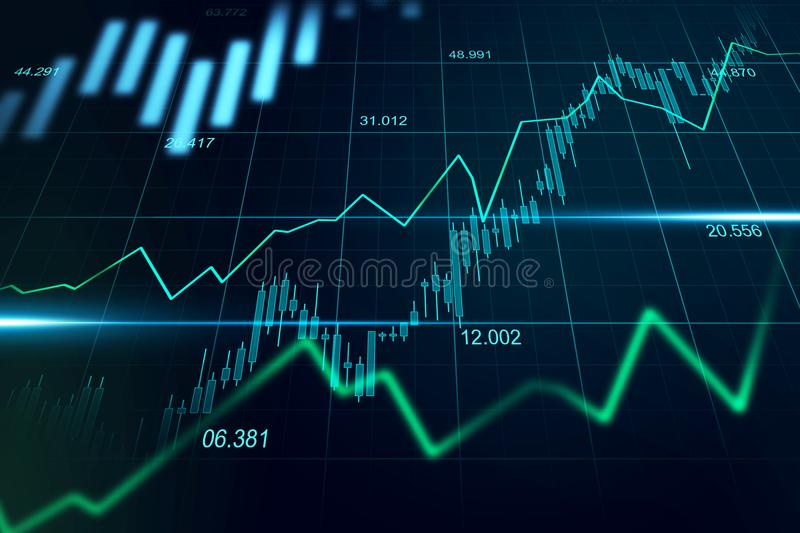 Stock market or forex trading graph in graphic concept suitable royalty free stock photos