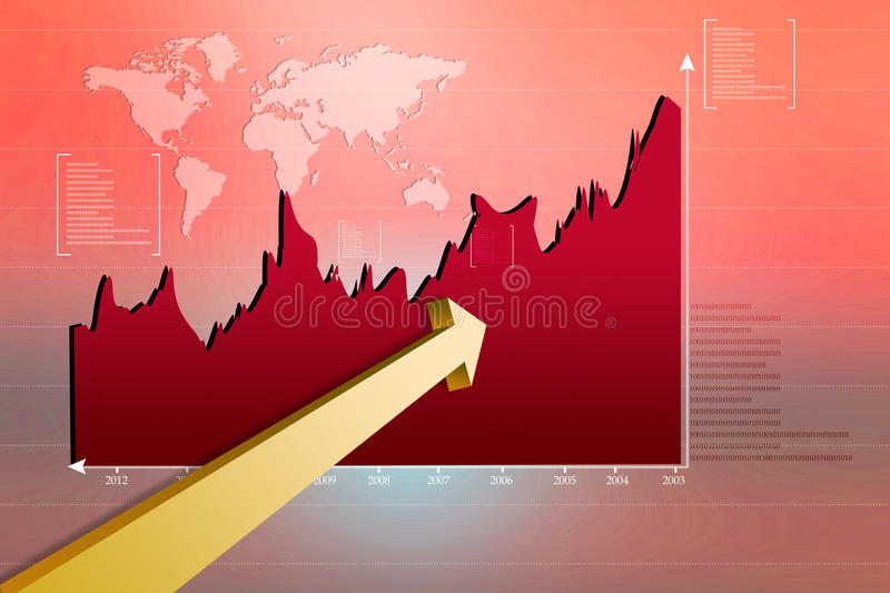 Download Stock Market Graph stock illustration. Image of gain - 25656772