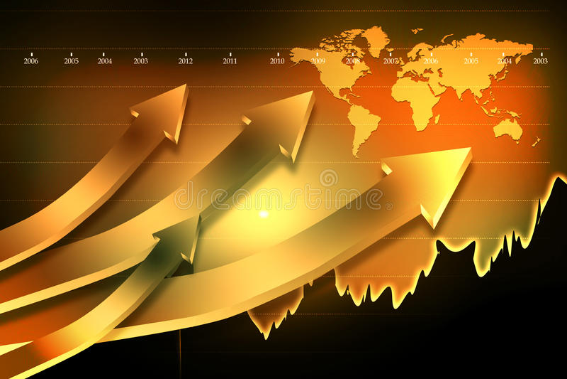 Stock Market Graph vector illustration