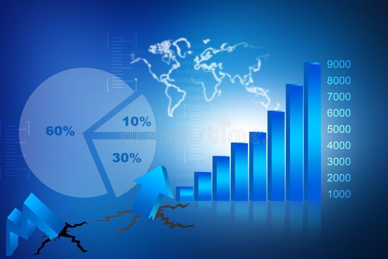 The Stock Market graph vector illustration