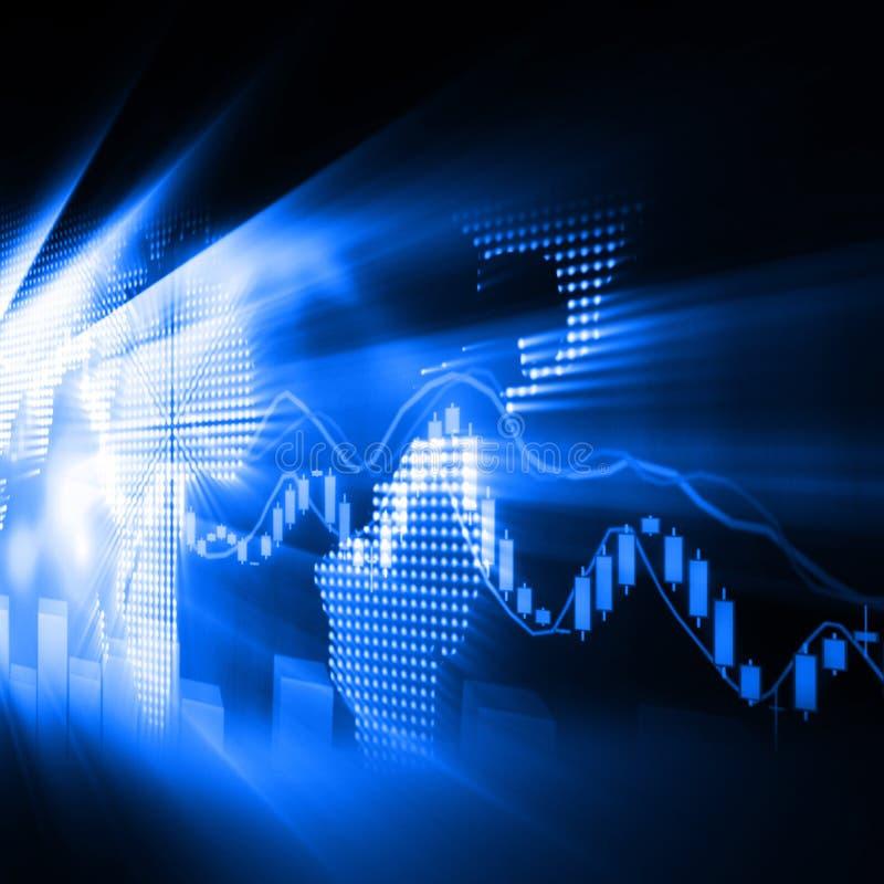 Stock Market Graph and Bar Chart royalty free illustration