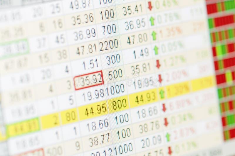 Stock market graph stock image