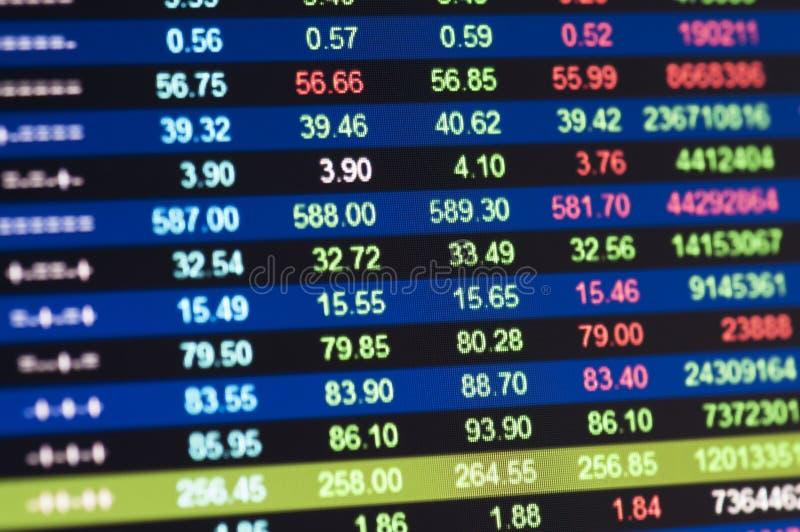 Stock market graph stock photography