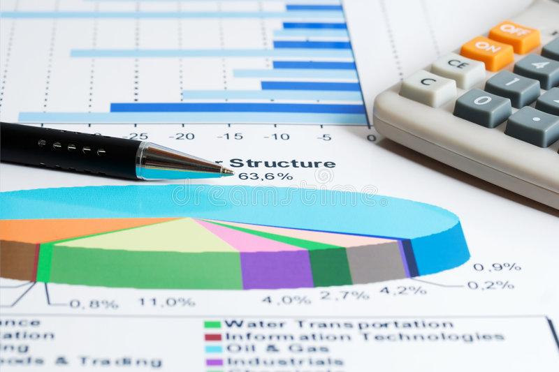 Stock market graphs. Monitoring and accounting stock images