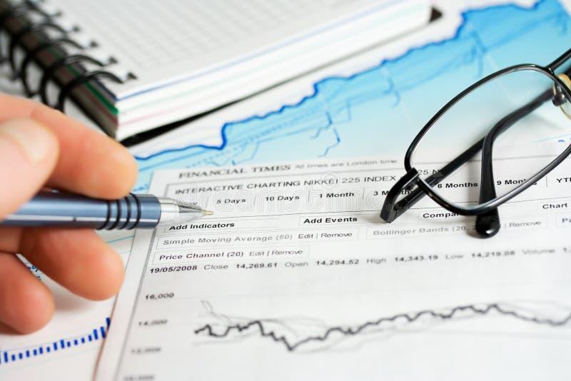 Download Stock Market Graphs Analysis Stock Image - Image: 8154043
