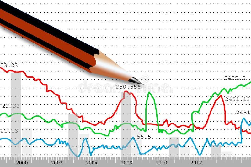 Download Stock Market Graphs Analyzing Stock Illustration - Image: 25842742
