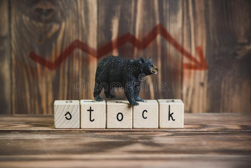 Bear year on the stock exchange royalty free stock images
