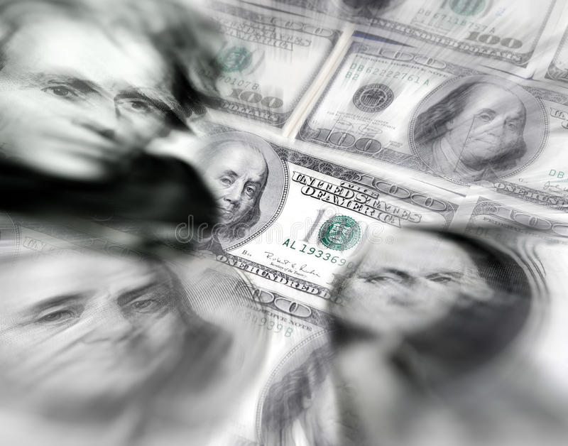 Stock Market Graphs and Money stock photography