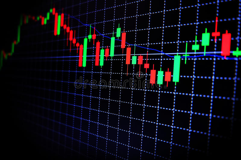 Stock market green and red graph with black background , Forex market , trading. Background royalty free stock photo