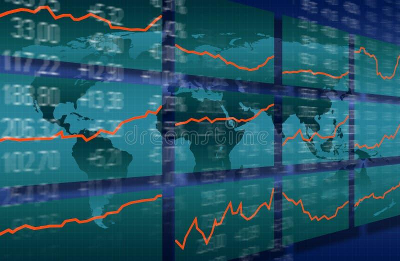 Stock market growth royalty free illustration