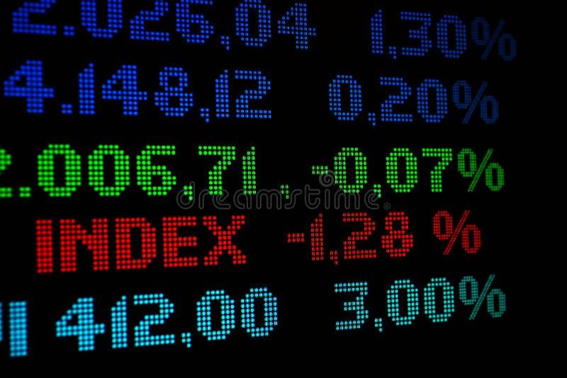 Stock market index stock photo