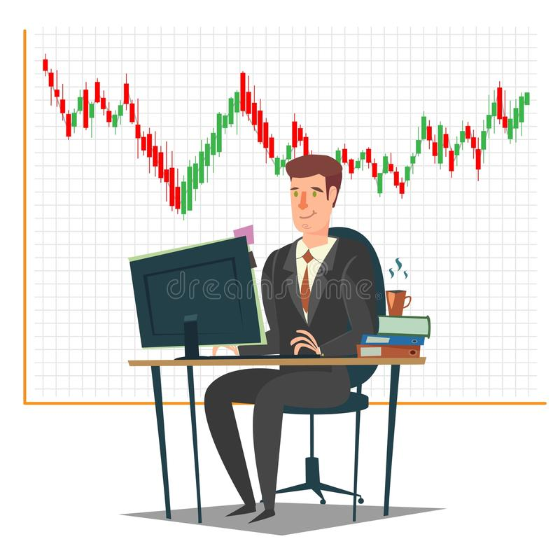 Stock market, investment and trading concept vector illustration royalty free illustration