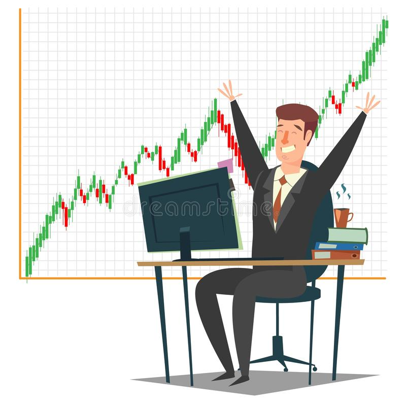 Stock market, investment and trading concept vector illustration stock illustration