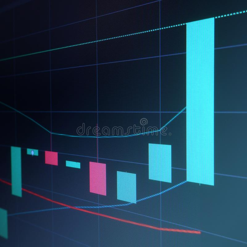 Stock market japan candle graph royalty free stock photography