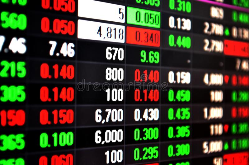 Download Stock Market Live Feed On Screen Stock Photo - Image of economics,  financial: