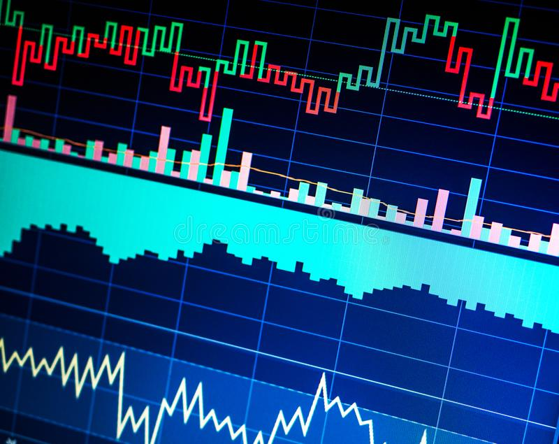 Stock market and other finance themes. Finance data concept. Trading. Stock market and other finance themes. Financial data on a monitor. Finance data concept stock photo