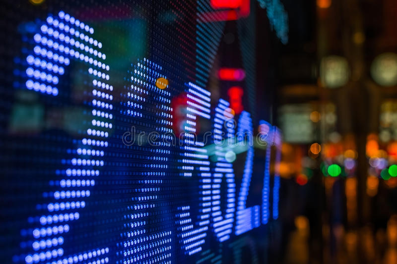 Stock market price display royalty free stock photography
