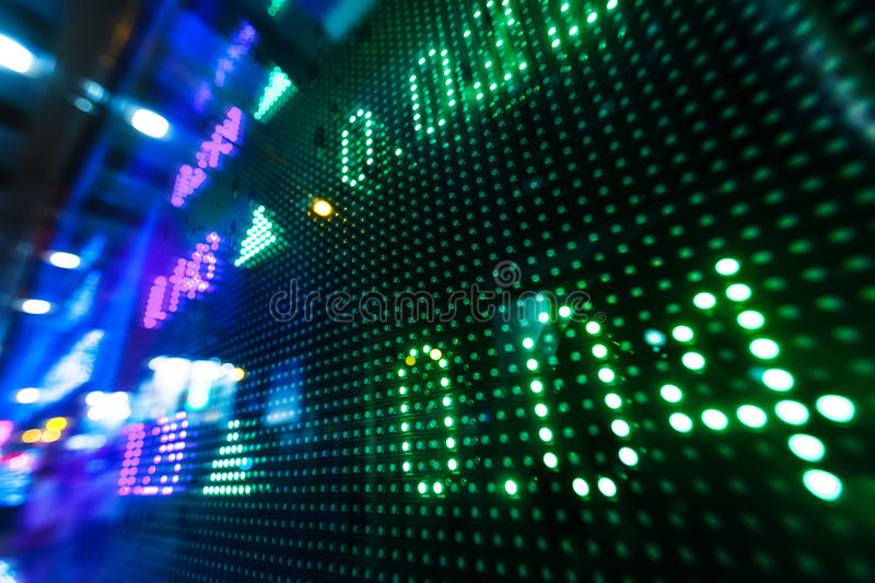 Stock market price on display royalty free stock photography