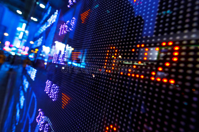 Stock market price drop display stock image
