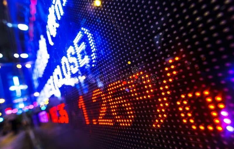 Stock market price drop display stock photos