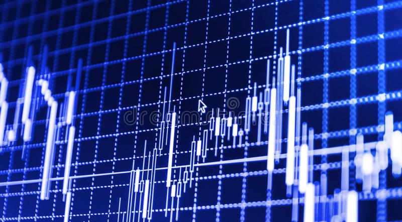 Stock market quotes graph. Stock market quotes graph chart vector illustration