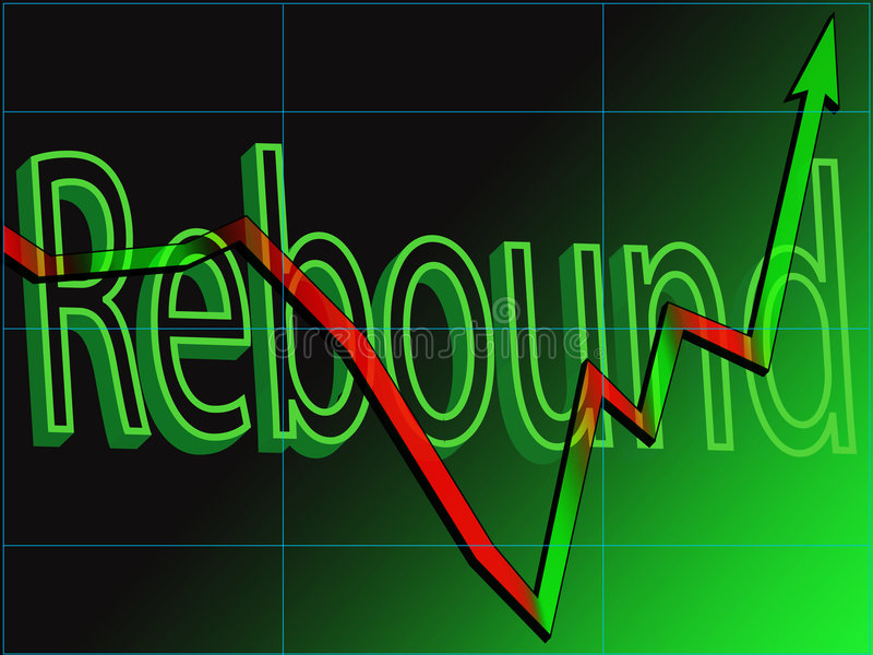 Stock Market Rebound stock photo