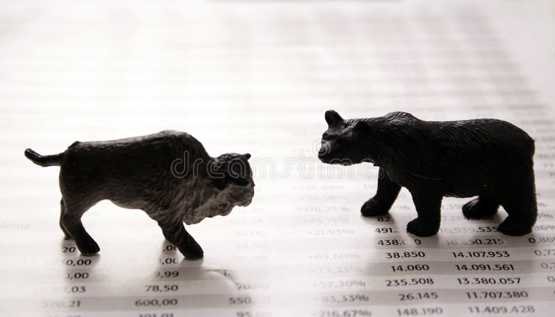 Stock market report royalty free stock images