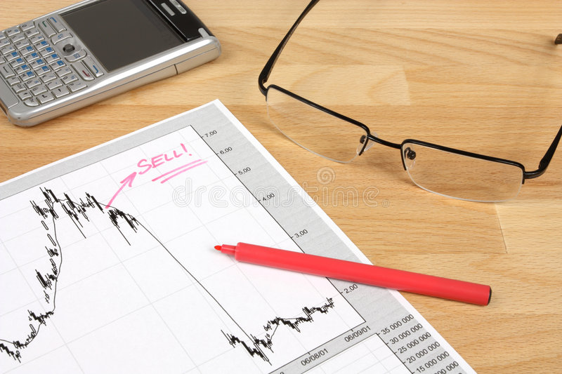 Stock Market Research Stock Photography