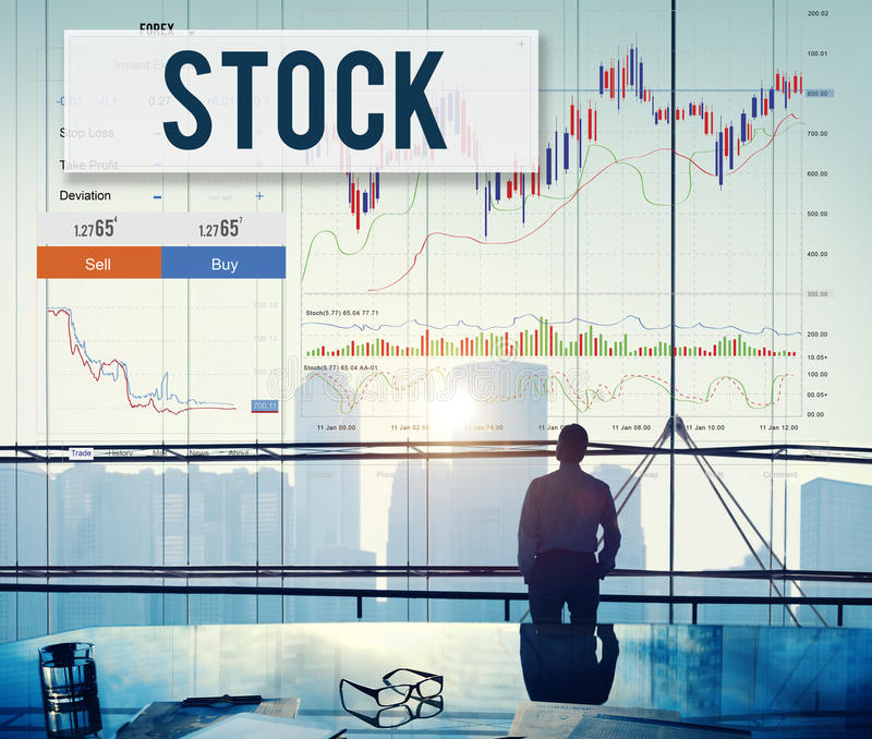 Stock Market Results Stock Trade Forex Shares Concept royalty free stock images