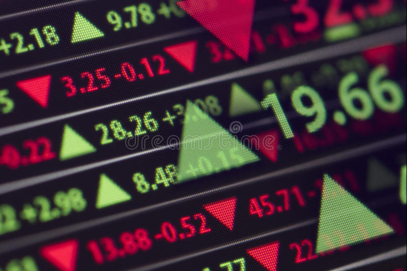 Stock Market Ticker royalty free stock images