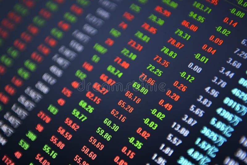 Stock market ticker stock image