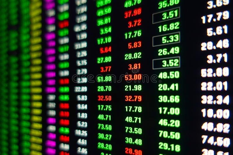 Stock exchange market trading data screen stock photography