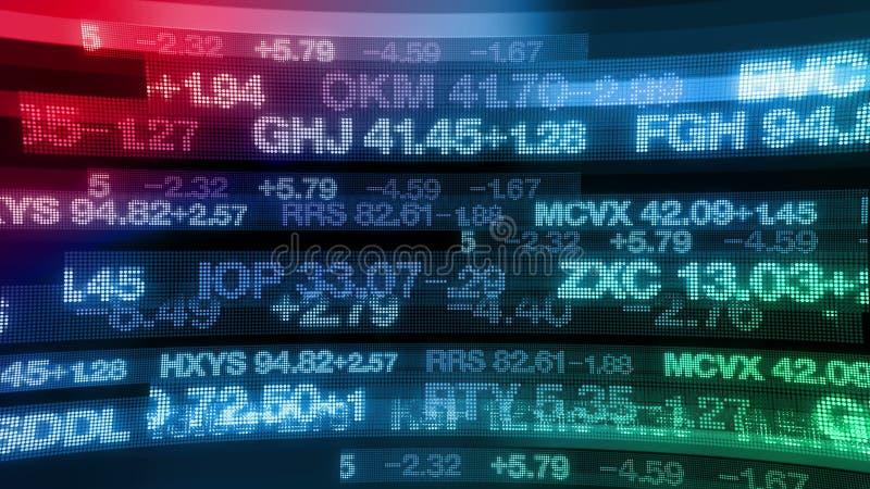 Stock Market Tickers Digital Data Display Background Stock Footage