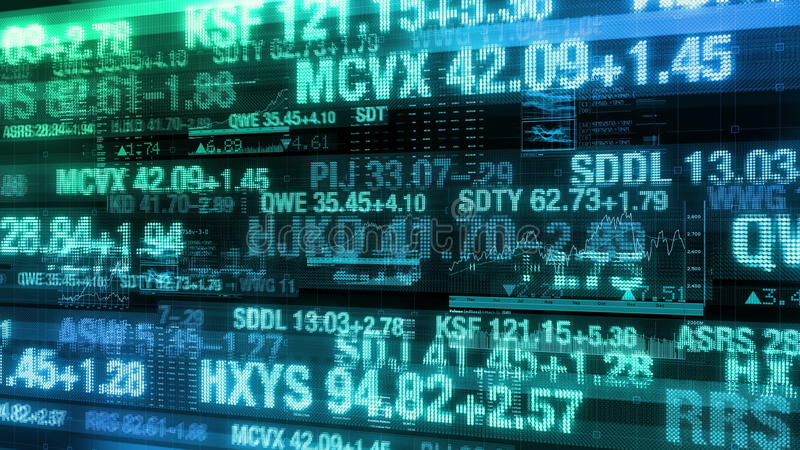 Stock Market Tickers Digital Data Display Background Stock Footage