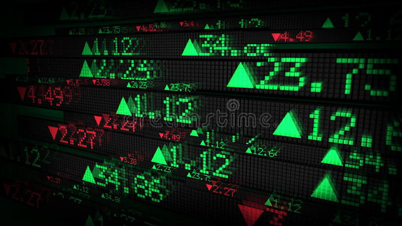 Stock Market Tickers Price Data Animation Stock Video Video Of
