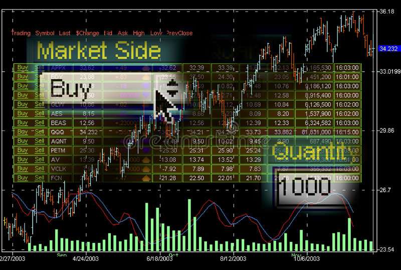 Stock market trading screens royalty free stock photography
